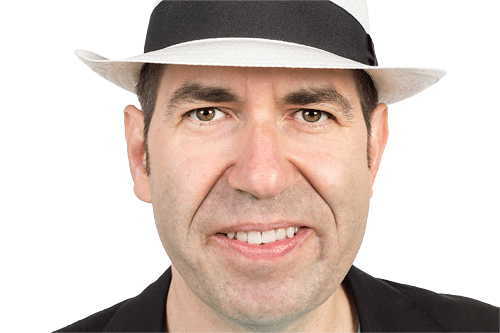 Über mich: Bild von computerpate mit Hut als Markenzeichen