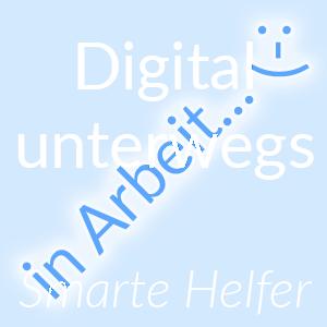 Ressourcen von smarten Helfern für Digital unterwegs als Button zum Klicken