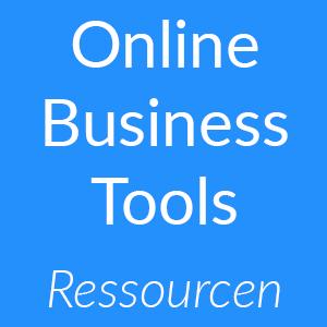 Ressourcen für Online Business-Tools mit Techniktipps als Button zum Klicken